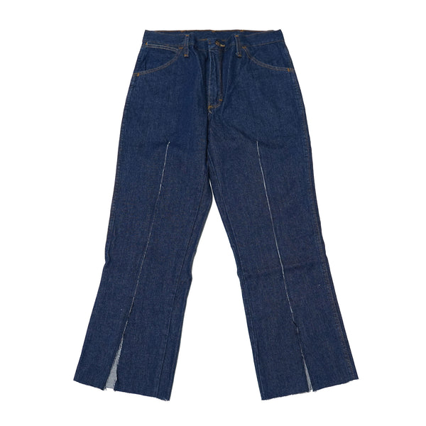 No:REMAKE02 | Name: REMAKE FRONT SLIT DENIM PANTS | Color:PREWASHED INDIGO【RED KAP】