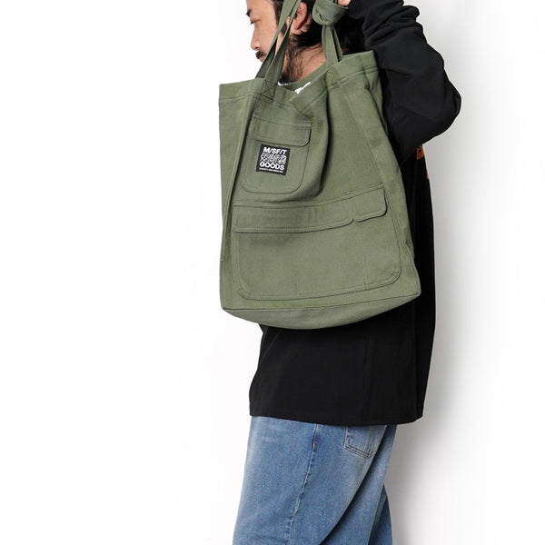 No:MT701013 | Name:HARD GOODS POCKET TOTE | Color:MILITARY | 【MISFIT】