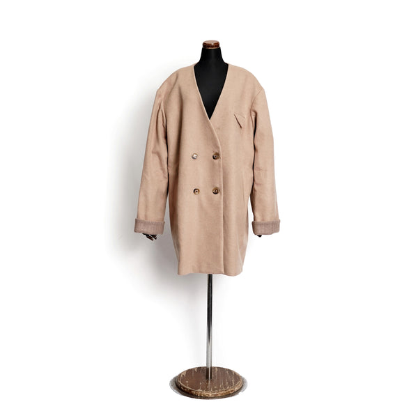 No:OSK-W20-33A | Name: | In The Mood | Color:Camel | Boyfriend coat 【OSKER THE LABEL】