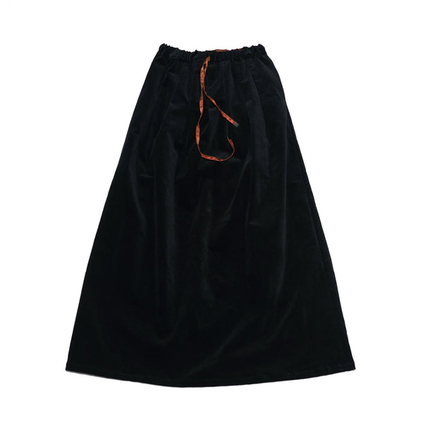 No:WSK844 | Name:Velor maxi skirt Color:Black 【Rehersall】
