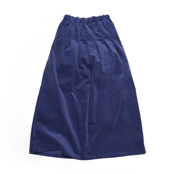 No:WSK844 | Name:Velor maxi skirt Color:Bule 【Rehersall】