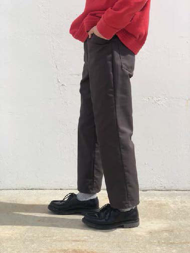 No:REMAKE17 | Name:Remake Ankle-Length Pants | Color:Chocolate Brown/Spruce Green | Size:30/32/34【REDKAP】【入荷予定アイテム・入荷連絡可能】