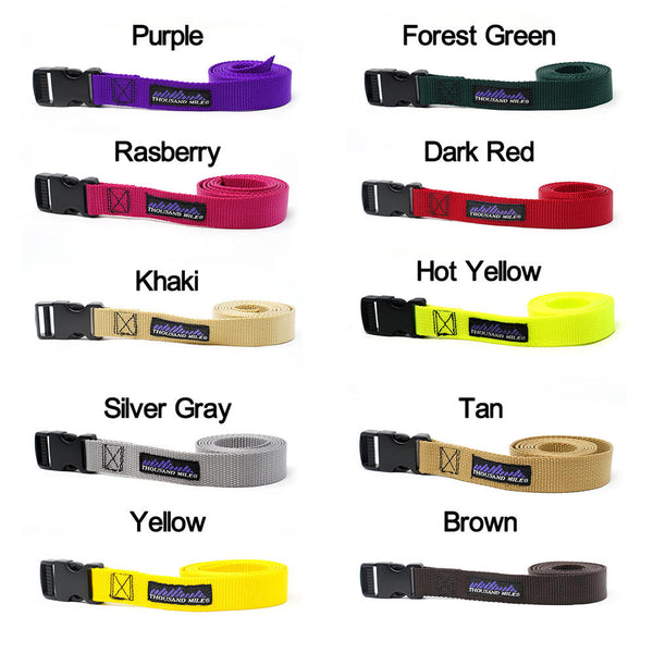 side release belt サイドリリースベルト SOLID Color:10 Colors【THOUSAND MILE】