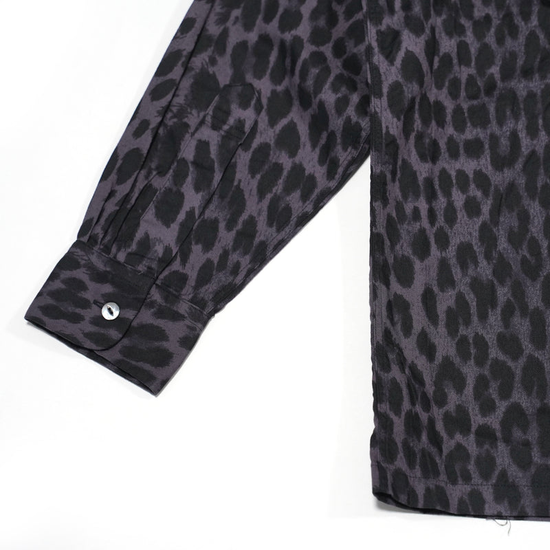 No:tc20f016 | Name:leopard print open shirts | Color:charcoal【TOWN CRAFT】