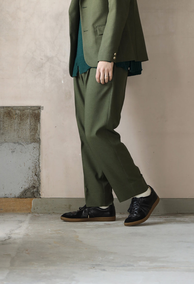 No:VOO-1061 | Name:Voomal Slacks | Color:Olive/Black Gray | Size:1/2【VOO】【入荷予定アイテム・入荷連絡可能】