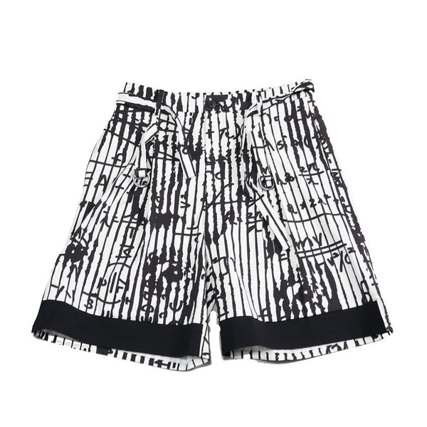 No-WDM23R0401A | Name-The Script Shorts - Phisics White| 【WEAVISM】