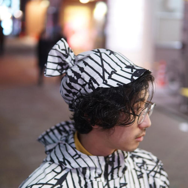 No-WDAC4R0101C | Name-Candy Hat - B/W | 【WEAVISM】【ネコポス選択可能】