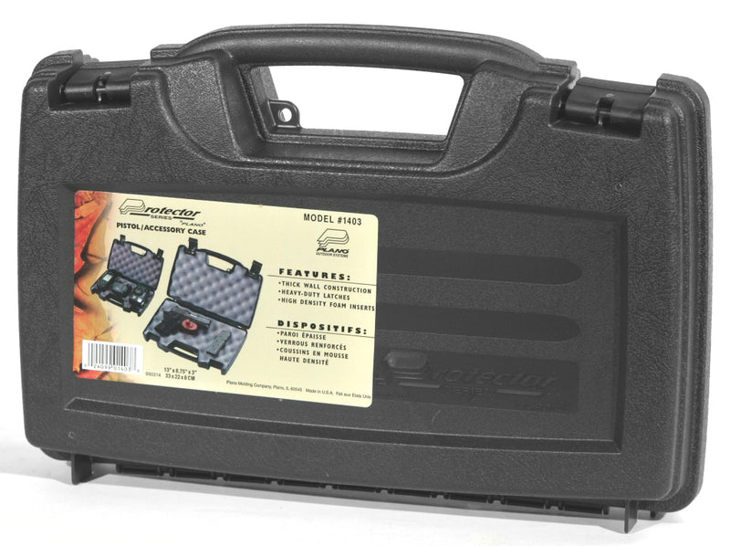 Plano Protector Lockable Pistol Hard Case with Foam Padding