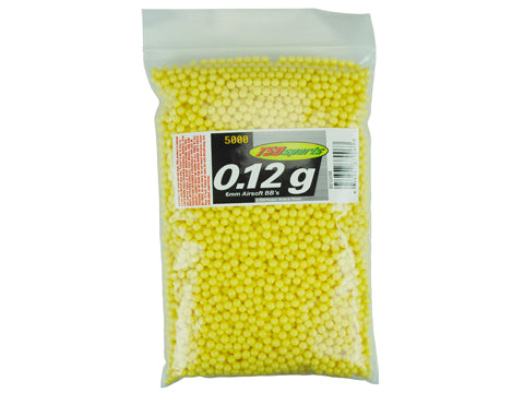 TSD Sports .12g 6mm High Grade Seamless BBs 5000 Rounds in Bag Yellow
