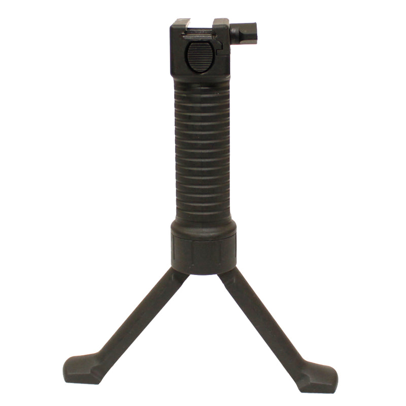 Bravo Tactical Vertical Grip Bipod Combo for Airsoft Guns - Black