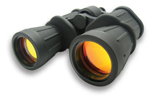 NcSTAR 10X50 Tactical Full Size Binoculars Ruby Lens and Neck Strap