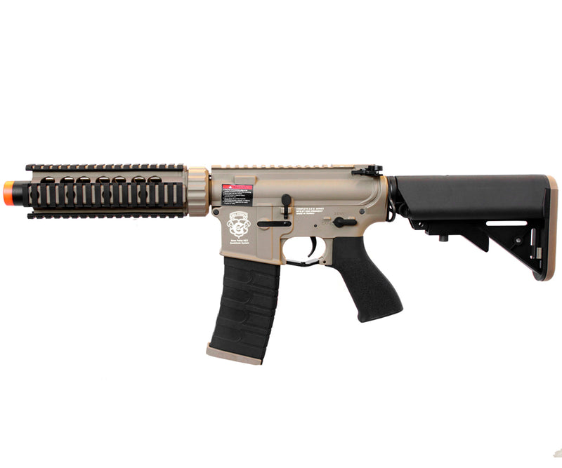 G&G GR4 CQB-S Mini M4 CQB RIS Blowback Airsoft Gun AEG - Tan / Black