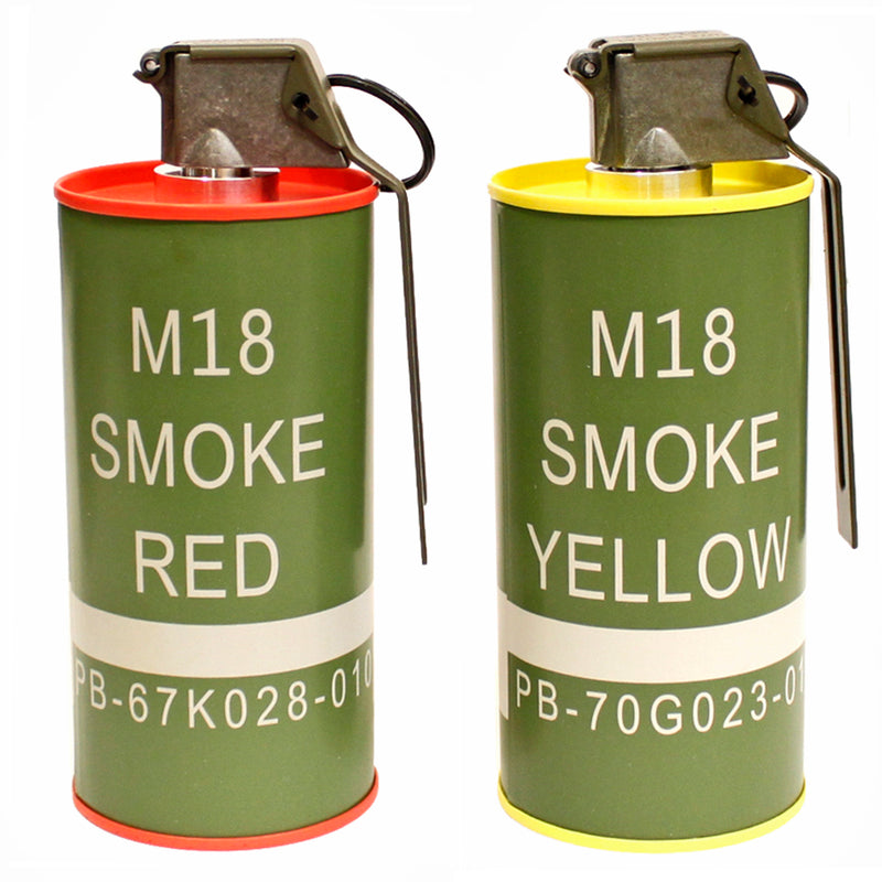 G&G Replica M18 Smoke Grenades Airsoft BB Containers - Red &Yellow