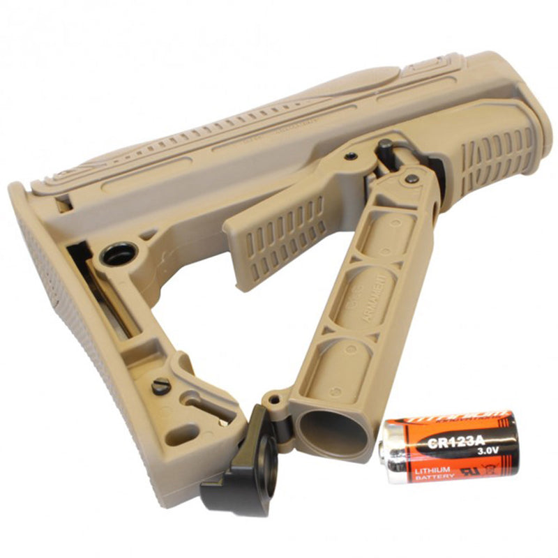 G&G GOS-V1 Retractable Airsoft M4 Airsoft Gun AEG Stock - Tan