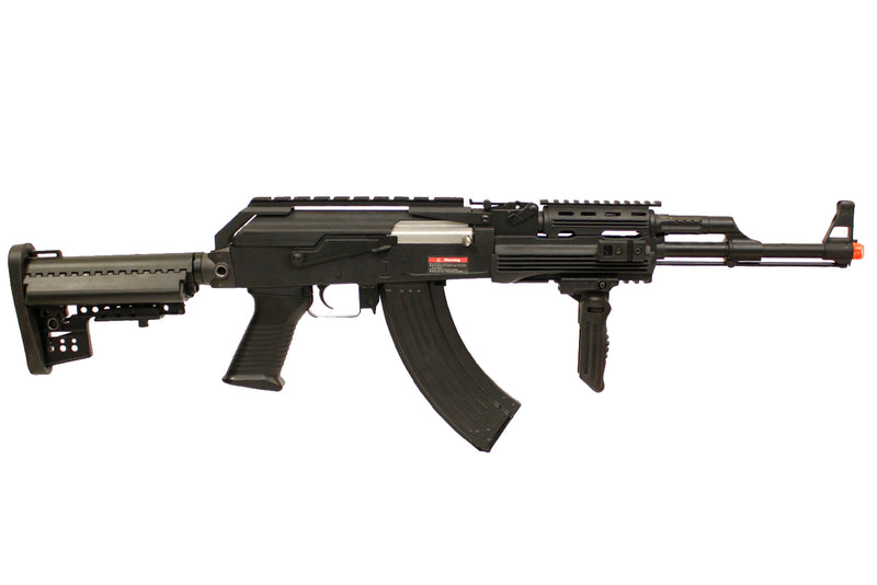 JG Full Metal PMC Contractor AK47 Tactical RIS with Crane Stock