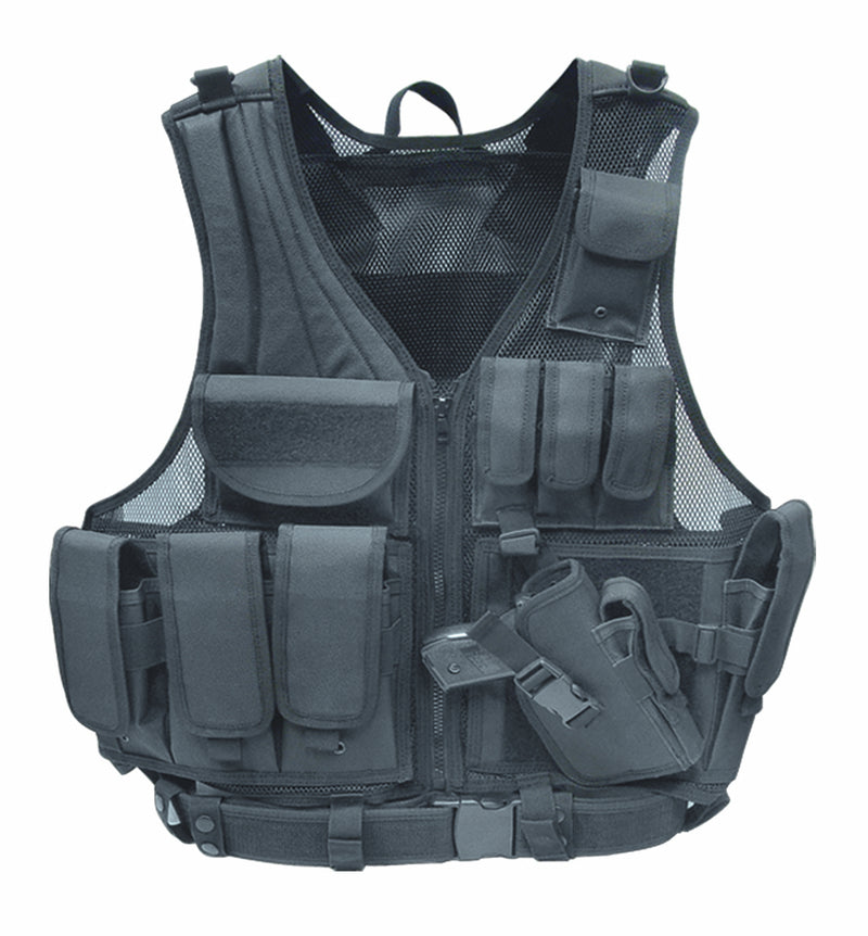 FIREPOWER Modular Tactical Airsoft Vest Black