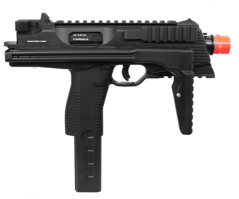 KWA KMP9R Gas Blowback NS2 Airsoft Submachine Gun - Black