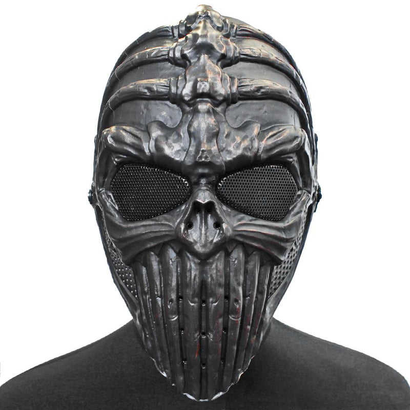 Lancer Tactical Vertabral Full Face Airsoft Mesh Mask