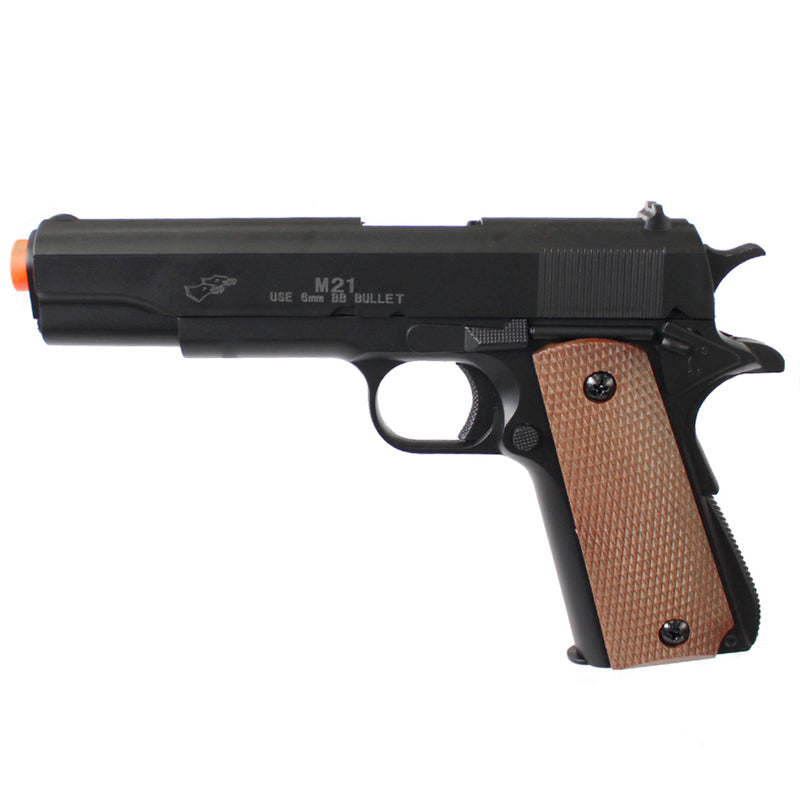 Double Eagle M1911 Military Spring Powered Pistol Airsoft Gun