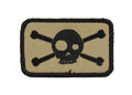 Big Eye Socket Skull and Crossbones Velcro Patch