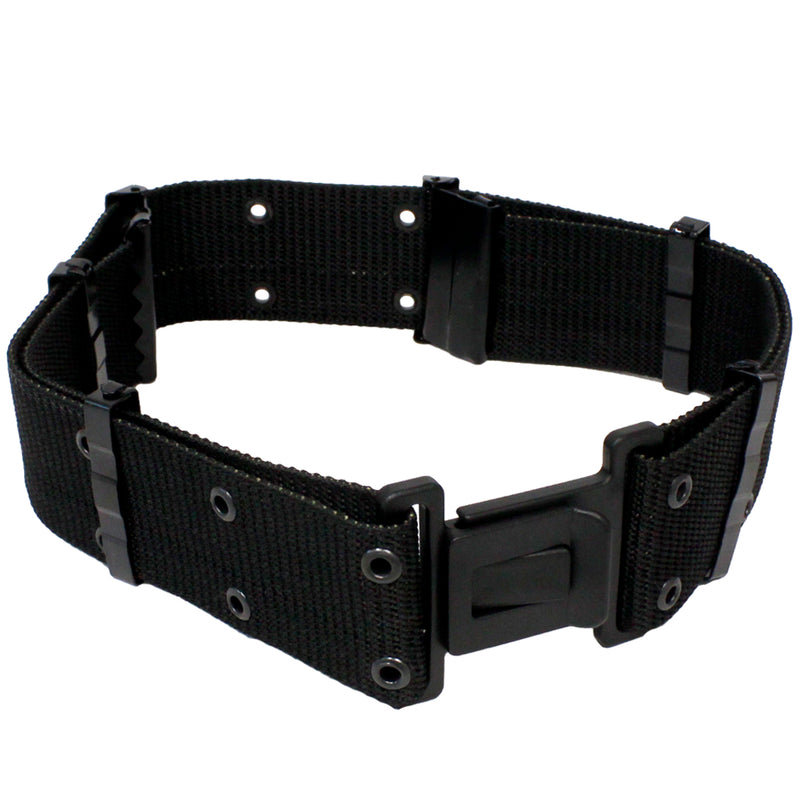 FIREPOWER Heavy Duty Tactical Web Belt for Airsoft and Paintball Black