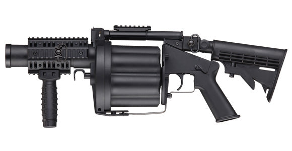 ICS MGL Multi-Shot Revolving 40mm Airsoft Grenade Launcher