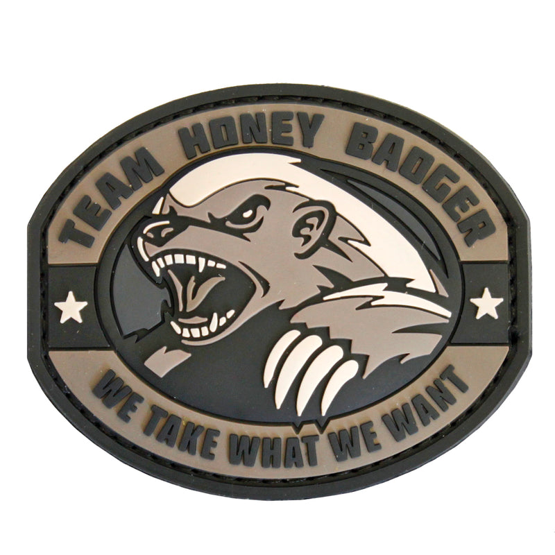 Mil-Spec Monkey Team Honey Badger PVC Velcro Patch