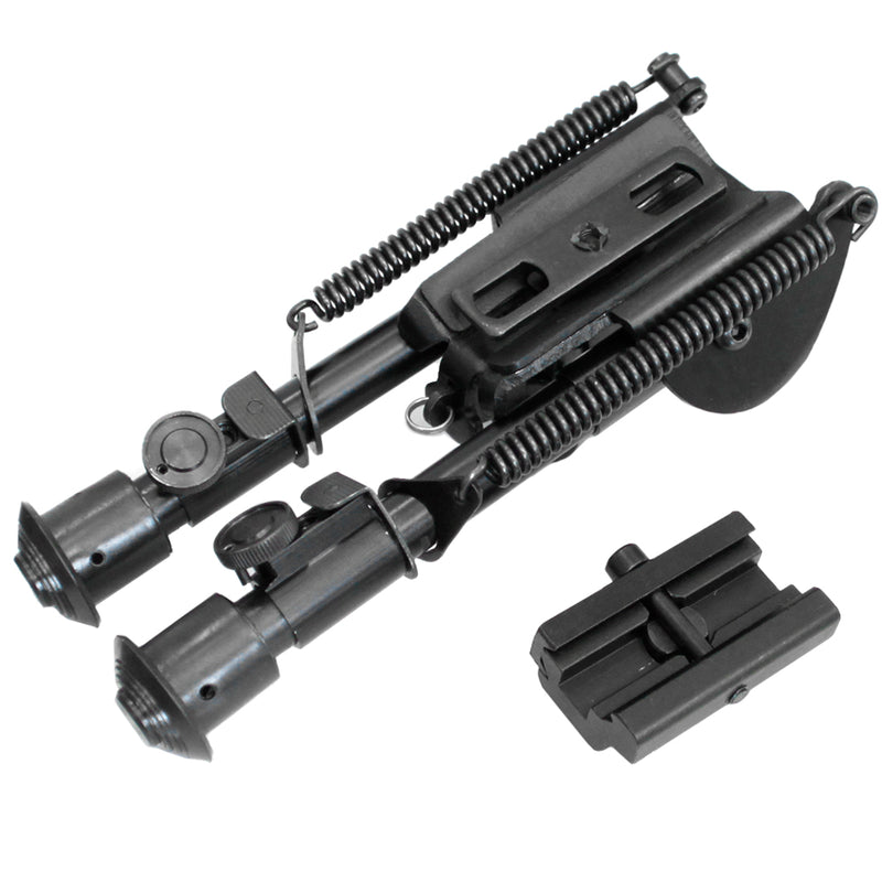 NcStar Precision Grade Compact Spring Loaded Bipod w/ 3 Adapters