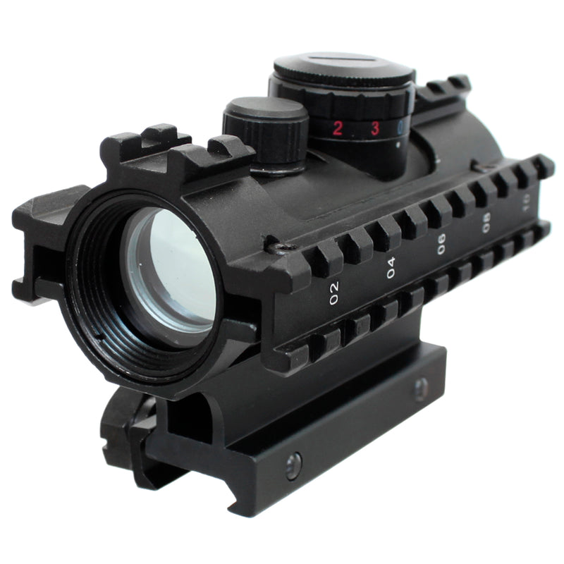 NcStar Red / Green / Blue Dot Reflex Sight 3-Rail Sighting System