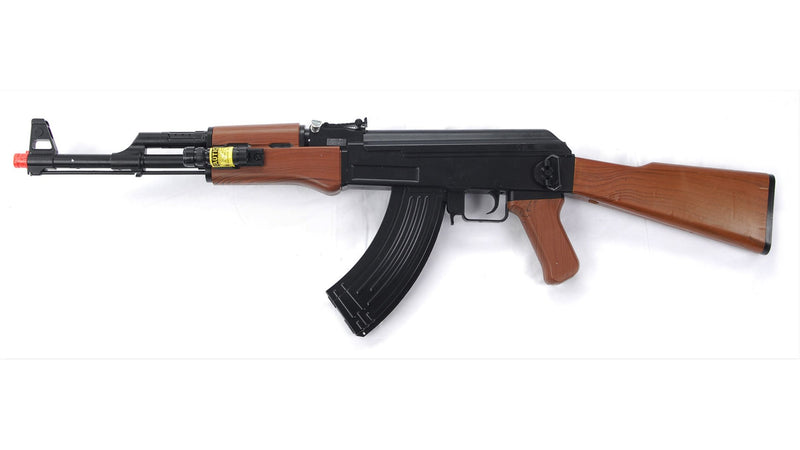 UKARMS AK47 Spring Powered Airsoft Gun Assault Rifle w/ Spring Pistol