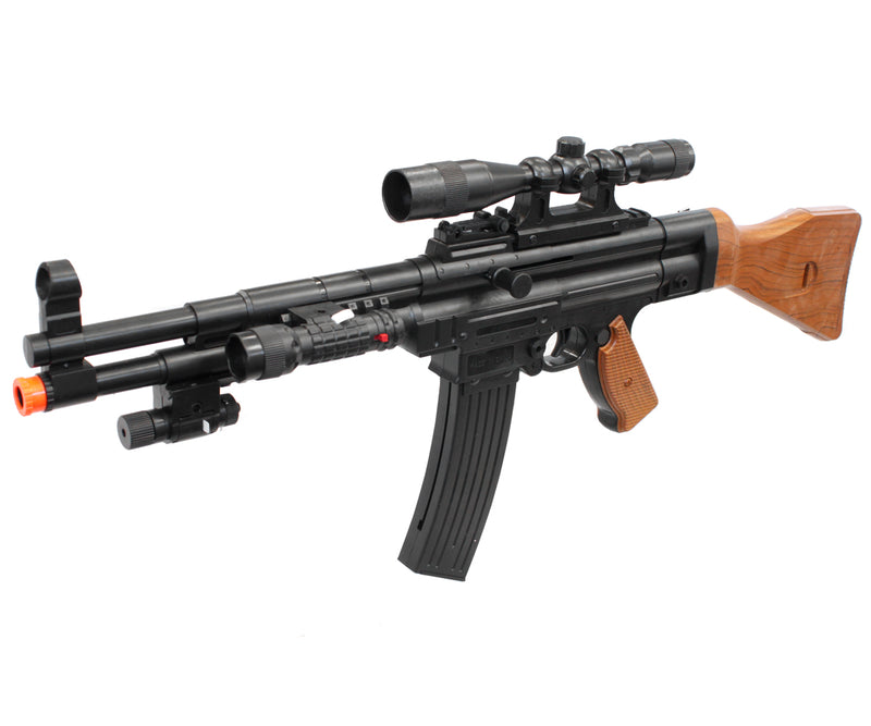 UKARMS P1056 WWII MP44 Spring Airsoft Gun w/ Scope, Light & Laser