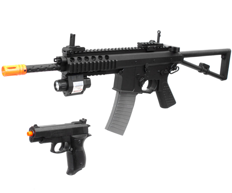 UKARMS P1188 PDW Spring Powered Airsoft Gun w/ Spring Pistol