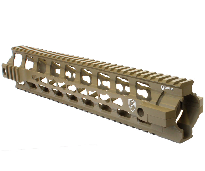 "PTS Fortis 12"" REV Free Float Keymod Rail System - Dark Earth"
