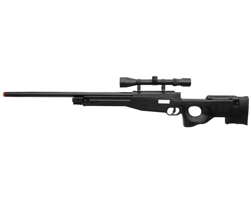 TSD L96 AWP Sniper Rifle Bolt Action Airsoft Gun Black with Scope