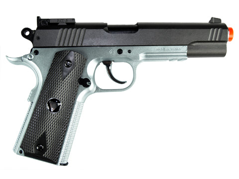 TSD M1911 Tactical Airsoft Spring Pistol - Black and Silver