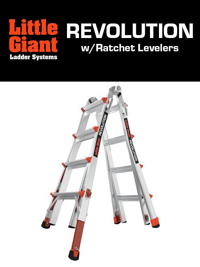 LITTLE GIANT REVOLUTION w/Ratchet Levelers