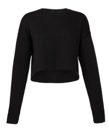 JUNIORS CROPPED CREWNECK SWEATSHIRT <BR/>MORE COLORS AVAILABLE