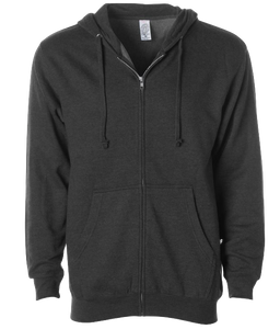 ADULT UNISEX MIDWIEGHT ZIP HOOD<BR/>MORE COLORS AVAILABLE
