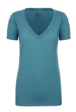 WOMEN'S DEEP V-NECK TEE <BR/>MORE COLORS AVAILABLE