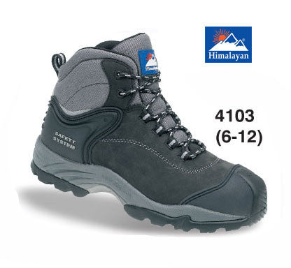 Himalayan Black Waterproof Nubuck Safety Boot # 4103