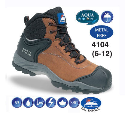 Himalayan Waterproof Nubuck Safety Boot # 4104