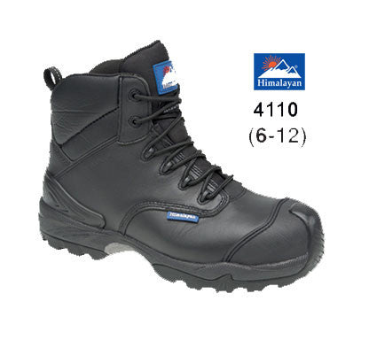 Himalayan Black Leather Waterproof Safety Boot # 4110