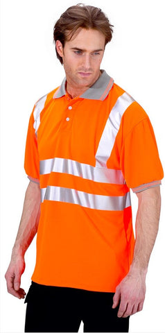 Hi Vis Short Sleeved Polo Shirt # BPKSEN