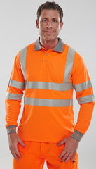 Hi Vis Long Sleeve Polo Shirt # BPKSLSEN