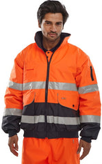 Hi Vis Fleece Lined 3 in 1 Bomber Jacket # EBJ