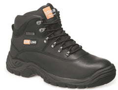 Black Leather Waterproof Hiker Boot # SS812SM