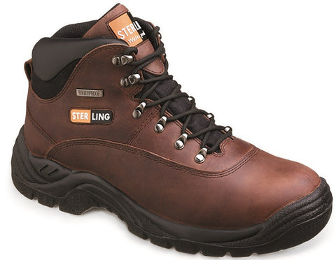 Brown Leather Waterproof Hiker Boot # SS813SM