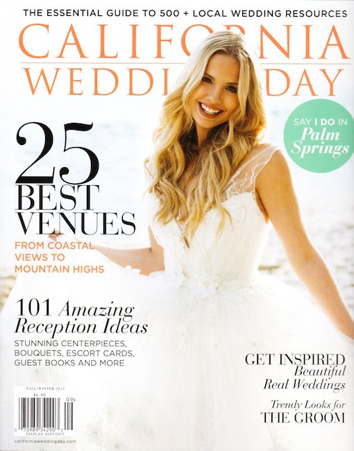 PRESS FEATURE // CALIFORNIA WEDDING DAY // FALL 2013