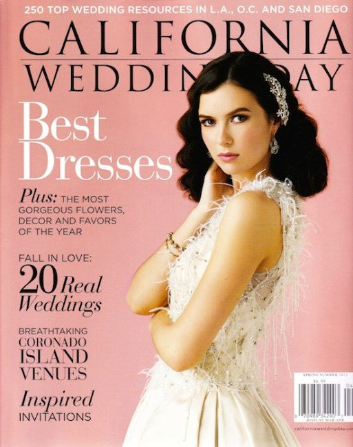 PRESS FEATURE // CALIFORNIA WEDDING DAY // SPRING-SUMMER 2013
