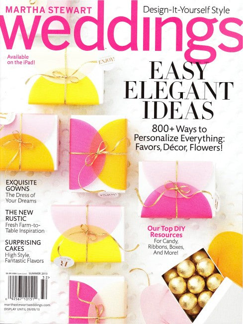 PRESS FEATURE // MARTHA STEWART WEDDINGS // SUMMER 2013